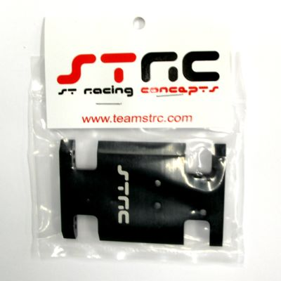 STRC Aluminum Center Chassis/Transmission Plate (Black) STA80007BK