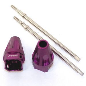STRC Wheely King Purple Rear Axle Lock Out with Drive shafts (1 Pair)