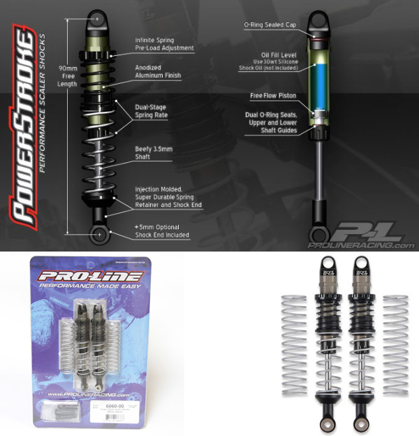 Pro Line Power Stroke Scaler Shocks (90mm-95mm) (2Pcs) 6060-00