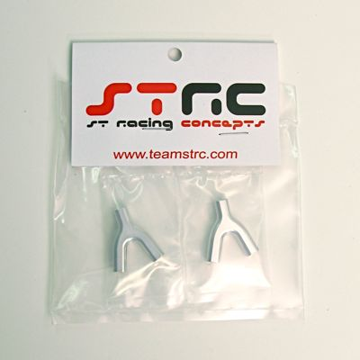 STRC Aluminum Upper Suspension Link Mount (1 Pair - Silver)