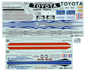 Tamiya Toyota 9495521 Sticker A & B