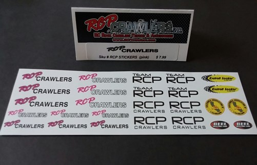 """RCP DECALS/STICKERS""""PINK"""""""