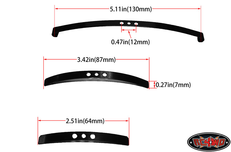 RC4WD Soft Steel Leaf Spring for Trail Finder 2