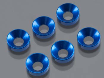 Cone Washer 3x6.9x2mm (BLUE) (6pcs) AXA1103