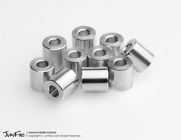 JUNFAC M3 ALUMINUM SPACER 7X7MM (10)