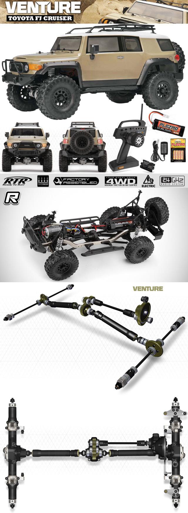 Venture Toyota FJ Cruiser RTR, 1/10 Scale, 4WD, Brushed, Beige, w/ 2.4GHz Radio System