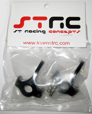 STRC Racing Aluminum CNC Machined Hi-Clearence Knuckles For AX10 (Black) STA80003BK