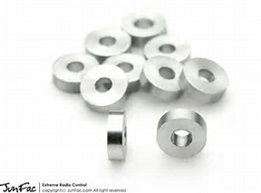 JUNFAC M3 ALUMINUM SPACER 7X2.5MM (10)
