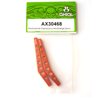 Axial Machined Hi-Clearence Links (Orange) (2pcs) AX30468