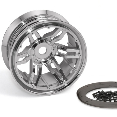 Axial Racing 40 Series Narrow Beadlocks Chrome  (2)