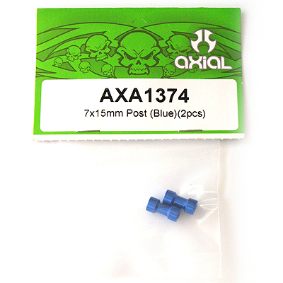 Axial 7x15mm Post (Blue)(2pcs) AXA1374