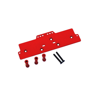 STRC Machined Alum. Adjustable 4 link front servo/battery mount (Red) STA30486R