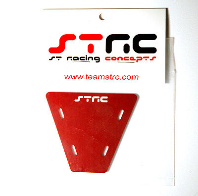 STRC Machined Aluminum Electronics Plate For AX-10 (Red) STA30497R