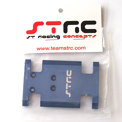 STRC Aluminum Center Chassis/Transmission Plate (Blue)