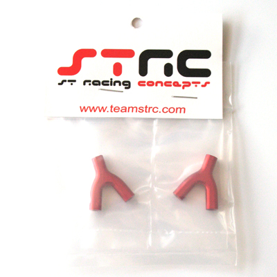 STRC Aluminum Upper Suspension Link Mount (1 Pair - Red)
