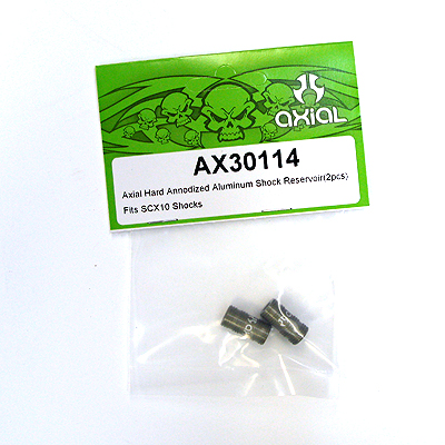 Axial Hard Annodized Alum Shock Reservoir (2pcs) (Fits SCX10 Shocks) ax30114