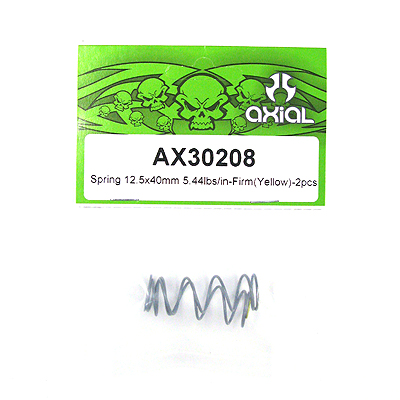 Axial Spring 12.5x40mm 5.44lbs/in-firm (Yellow) 2Pcs.