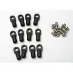 Traxxas 5347 Rod ends, Revo (large) with hollow balls (12)