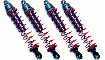 TRA4962 Hard Anodized Teflon Coated Big Bore Shocks (x-Long) (4)