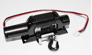 1x 1/10 Bulldog 9300XT Scale Winch (BLACK)  Z-E0011