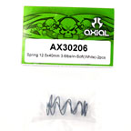 Axial Spring 12.5x40mm 3.6lbs/in - Soft (White) 2Pcs.