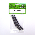 Axial Machined Hi-Clearence Links (Grey) (2pcs) AX30469