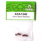 5x6mm Spacer (Red) (6pcs.) AXA1340