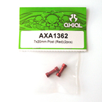 Axial 7x20mm Post (Red) (2pcs.) AXA1362