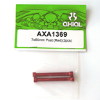 Axial 7x55mm Post (Red) (2pcs.) AXA1369