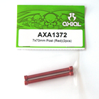 Axial 7x70mm Post (Red) (2pcs.) AXA1372