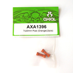Axial 7x20mm Post (Orange)(2pcs) AXA1396