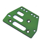 STRC Machined Alum. Adjustable 4 link Front/Rear Plate (Green) (1pc.) STA30485G