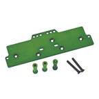 STRC Machined Alum. Adjustable 4 link front servo/battery mount (Green) STA30486G