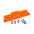 STRC Machined Alum. Adjustable 4 link front servo/battery mount (Orange) STA30486O