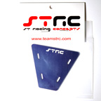 STRC Machined Aluminum Electronics Plate For AX-10 (Blue)