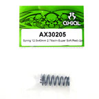 Axial Spring 12.5x40mm 2.7lbs/in-Super Soft (Red) 2Pcs.