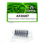 Axial Spring 12.5x40mm 4.08lbs/in-super firm (Green) 2Pcs.