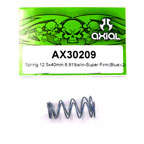 Axial Spring 12.5x40mm 6.81lbs/in- Super Firm (Blue) 2Pcs.