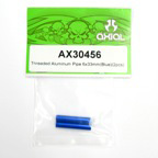 Axial Threaded Aluminum Pipe 6x33mm (Blue)(2pcs) ax30456