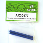 Axial Threaded Aluminum Pipe 6x74.5mm (Blue) (2Pcs.) AX30477