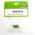 Axial 7x20mm Post (Green)(2pcs) axa1312