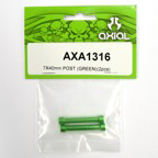 Axial 7x40mm Post (Green)(2pcs) axa1316