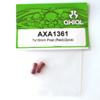 Axial 7x15mm Post (Red)(2pcs) axa1361