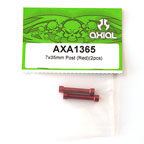 Axial 7x35mm Post (Red)(2pcs) axa1365