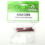Axial 7x50mm Post (Red) (2pcs) axa1368