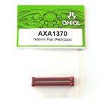 Axial 7x60mm Post (Red)(2pcs) axa1370