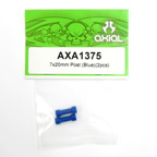 Axial 7x20mm Post (Blue)(2pcs) axa1375