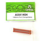 Axial 7x60mm Post (Orange)(2pcs) axa1404