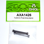 Axial 7x45mm Post (Grey) (2pcs) axa1426