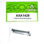 Axial 7x55mm Post (Grey) (2pcs.) AXA1428
